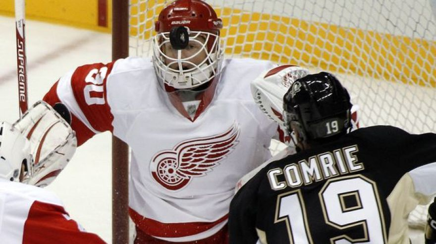 Mike comrie detroit chris osgood pittsburgh
