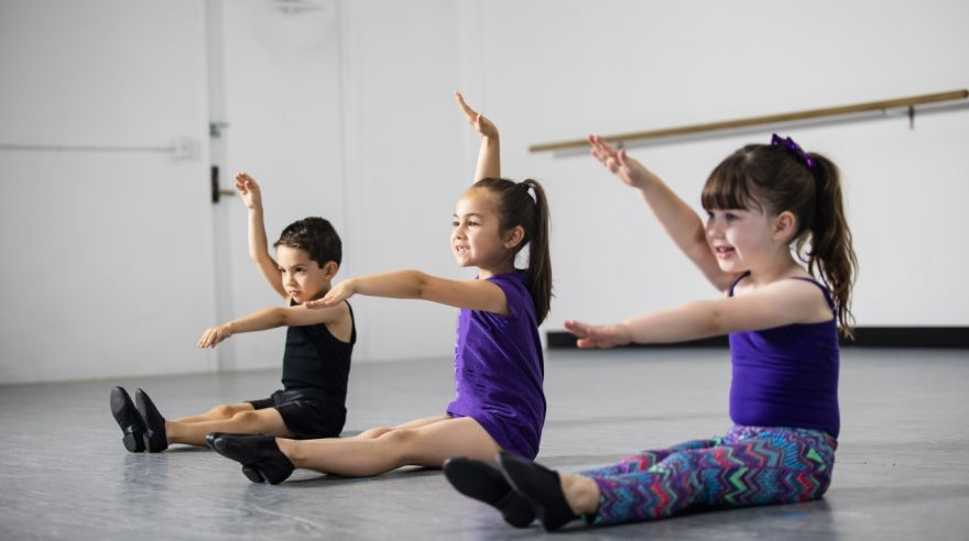 Group of Children Practicing Dance at Studio