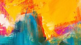 Abstract Hand-painted Art Background on Canvas