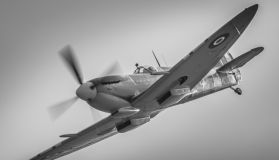 Spitfire MH434 - nostalgic black and white