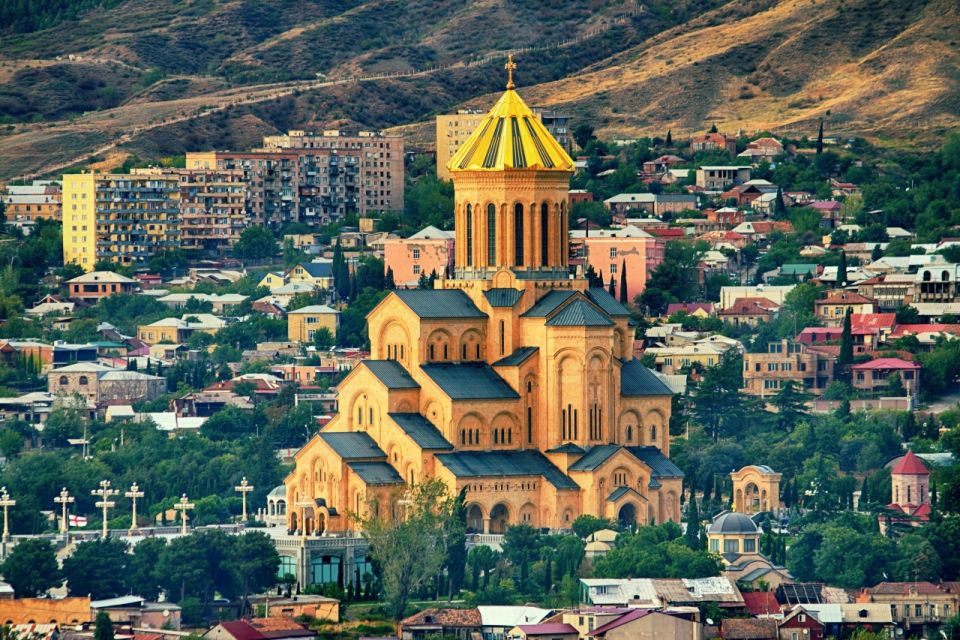 The Holy Trinity Cathedral Tsminda Sameba church in Tbilisi