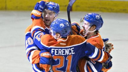 Andrew Ference a spol. (Edmonton Oilers).