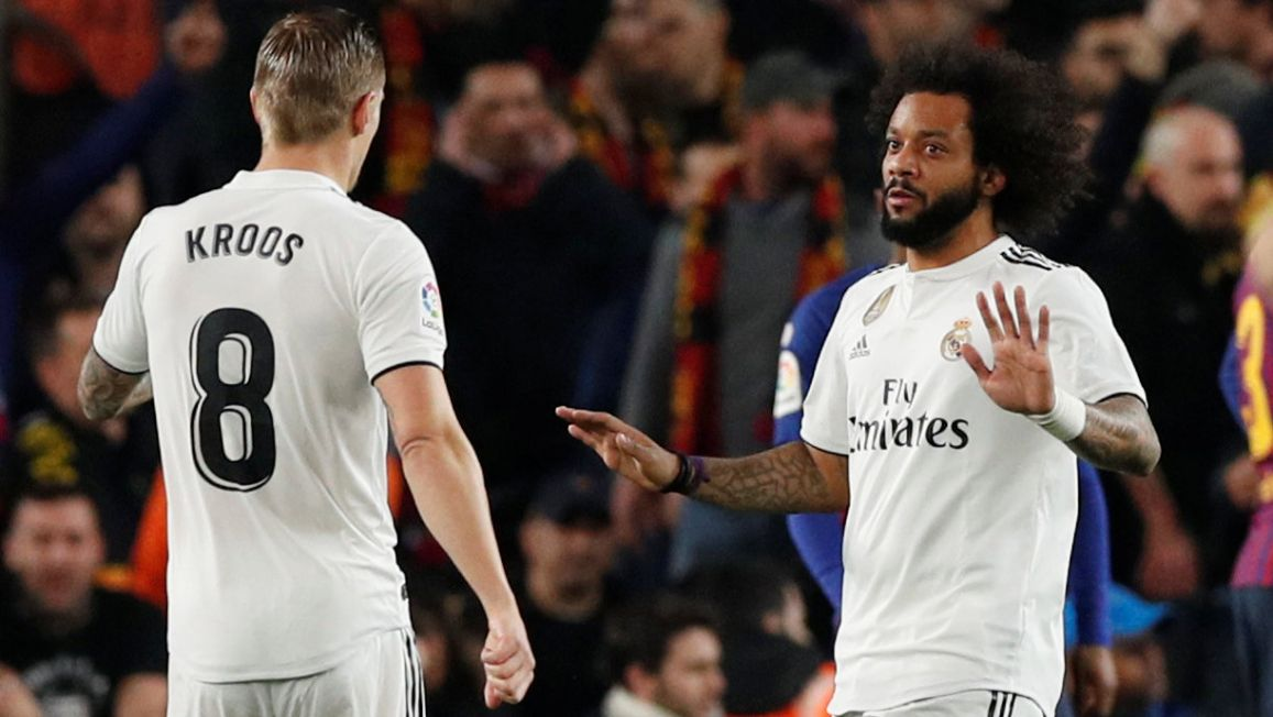 Marcelo and Toni Kroos.
