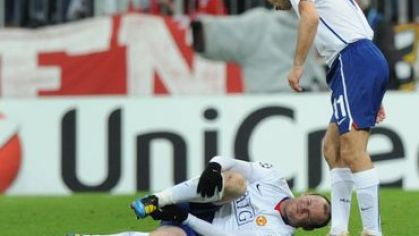 Rooney injury a giggs man utd vs bayern