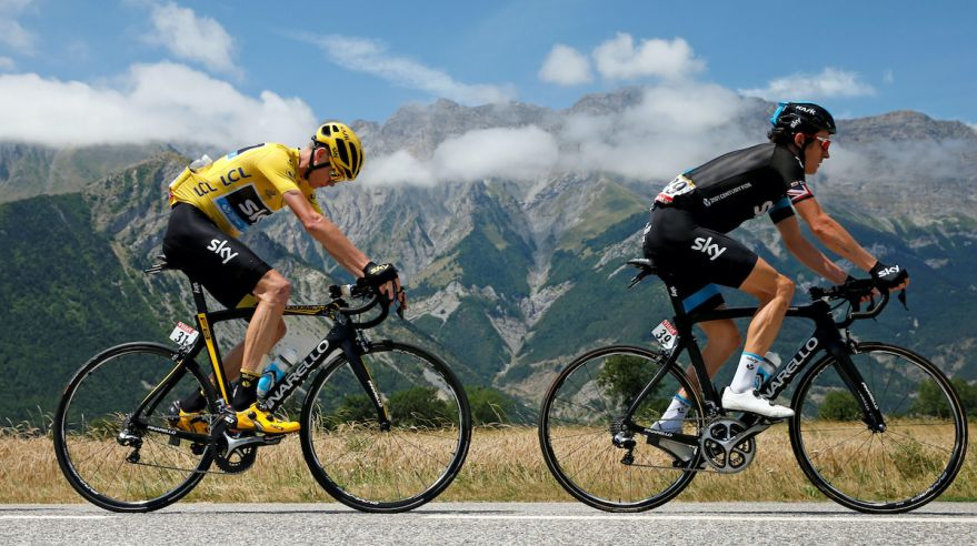 Chris Froome a Geraint Thomas.