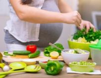 Healthy nutrition of a pregnant woman