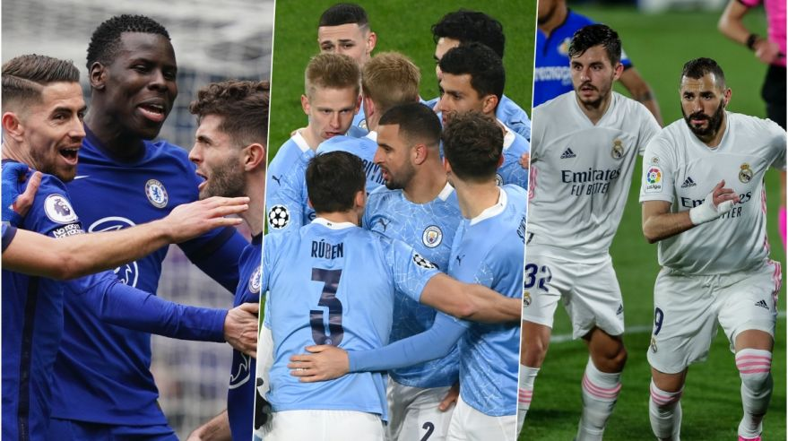 Chelsea FC, Manchester City a Real Madrid.