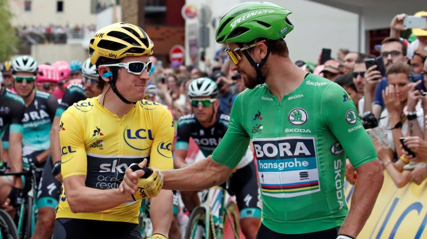 Geraint Thomas a Peter Sagan pred 21. etapou