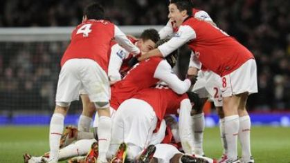 Arsenal hraci nakope vs chelsea dec2010