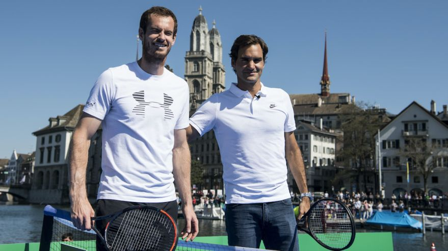 Andy Murray a Roger Federer.
