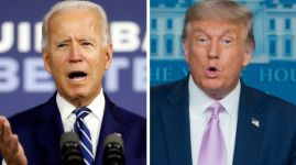 Kandidáti na prezidenta USA Joe Biden a Donald Trump