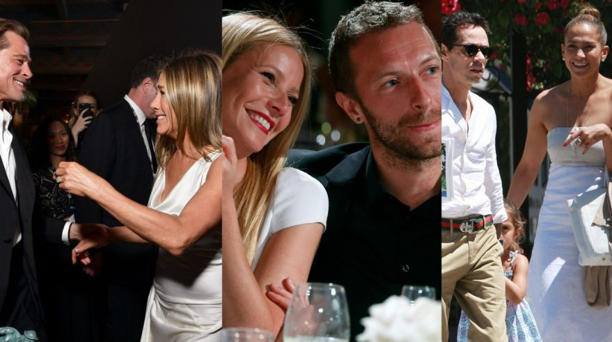 Brad Pitt, Jennifer Aniston, Gwyneth Paltrow, Chris Martin, Marc Anthony, Jennifer Lopez