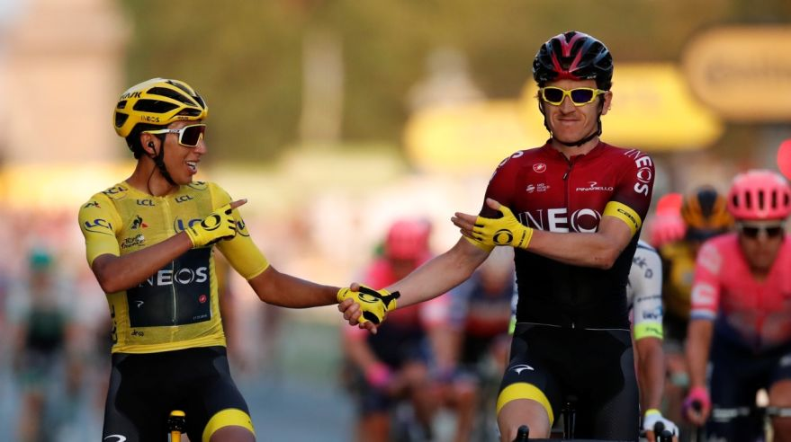 Egan Bernal a Geraint Thomas z tímu INEOS na Tour de France