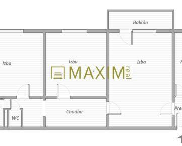3- izbový byt na Sklenárovej ulici