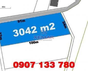 Predaj- pozemok pre 3 rodinné domy 3042 m2- Vígľaš- Pod Bokmi (21,-€/m2)