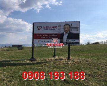 Na prenájom bilboardy umiestnené na ceste E572 medzi Žiarom nad Hronom a Handlovou