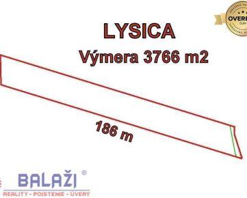 LYSICA  pozemok 3766m2, okr. Žilina