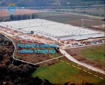 Na predaj pozemok - priemyselná zóna, 41.000 m2, Trenčín - Záblatie.