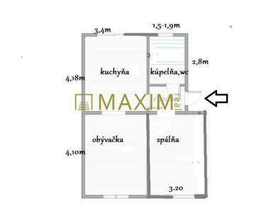 2- izbový byt na Cyprichovej ulici