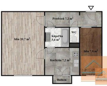 NOVO zrekonštruovaný 2 izb. byt podľa vašich predstáv, PIEŠŤANSKÁ ul.