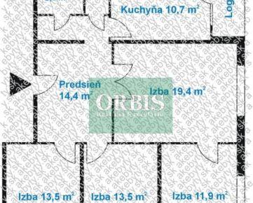 4 izb. byt - Bratislava V - Petržalka - Brančská ulica
