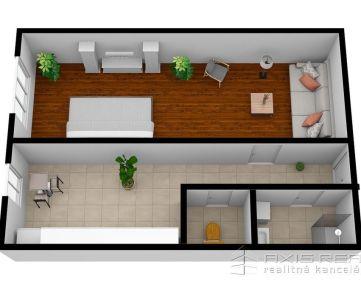 360° VIRTUÁLNA PREHLIADKA:: Pekný 1-izbový byt, BA V. Petržalka, Hálova ulica