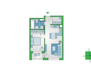 Príjemný 2-izbový byt s lodžiou a šatníkom v novostavbe NUPPU, Ružinov (D1004)