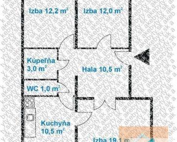 3 izb. byt, KAPICOVA ul., 5.p./8, po komplet. REKONŠTRUKCII