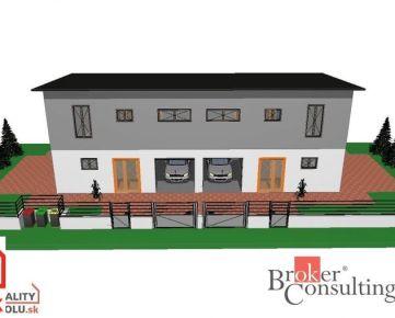 Predaj rodinného dvoj domu s garážami, Nitra - dve samostatné 4 izbové bytové jednotky s garážou
