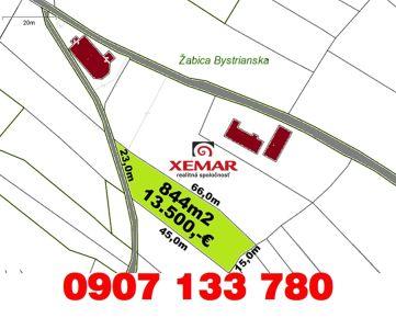 Predaj- stavebné pozemky- 844 m2 – Hriňová- Krivec- U Samporov