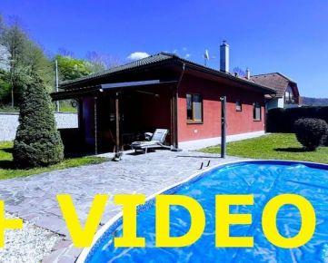 Vip Video. Bungalov 3+kk, nízke mesačné náklady, bazén, terasa, gril - Vlkanová