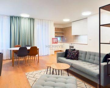 HERRYS - na prenájom - priestranný 2-izbový byt v obľúbenej novostavbe Seberíniho