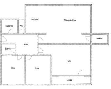 PREDAJ: 4izb.tehlový byt, 129m2, BA Ružinov Papraďova ulica