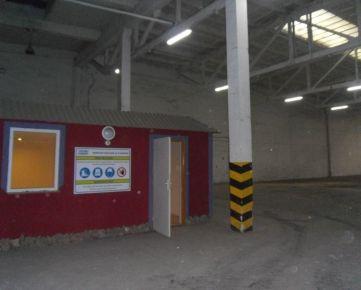 Na prenájom skladové/výrobné priestory v priemyselnom areály