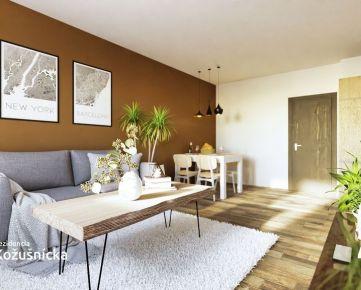 NA PREDAJ | 2 izbový byt 59m2 + veľký balkón, 3np. - Rezidencia Kožušnícka, byt B17