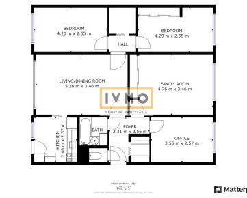 Predaj 5 izb. byt 98m2 s LOGGIOU 7m2, Silvánska ul., BA IV-Karlova Ves, množstvo zelene, na skok do centra, pivnica, šatník, V-Z orientácia, výborná občianska vybavenosť, 3D virtuálna obhliadka