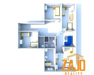 NA PRENÁJOM | 5 izbový byt + kuchyňa a 3 balkóny - Trenčín