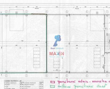 Prenájom: *MAXEN*, Výrobno-skladovacia NOVÁ HALA, volná časť 249 m2 + 62 m2 kancelárie, Južná tr., Košice IV - Južná tr.