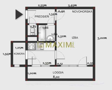 1- izbový byt na Novohorskej ulici