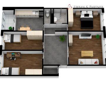 REZERVOVANÉ 4 izbový byt na predaj na Budatínskej ulici.