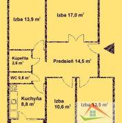 4-izb. byt 87m2, kompletná rekonštrukcia