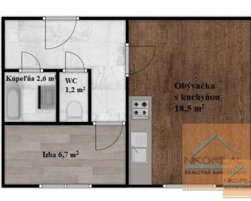 Novozrekonštruovaný 1,5 izb. byt podľa vlastných predstáv - BILÍKOVA ul.