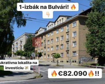 PONUKA MESIACA: 1-izbový tehlový byt na Bulvári, 41 m2, Žilina