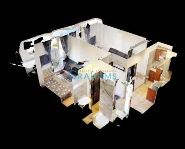 3D prehliadka, prenájom, 2 izb byt, Stavbárska