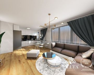 DELTA | OMNIA - 2 izbový apartmán v novostavbe, Tomášikova ul., Ružinov, 65 m2