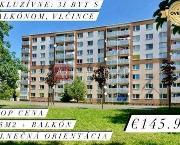 EXKLUZÍVNE: Slnečný 3i byt s balkónom, 75m2, Vlčince, Žilina
