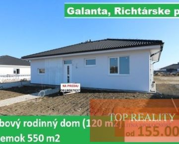 SUPER PONUKA! Samostatný 4 izbový rodinný dom 120 m2 pozemok 550 m2, Galanta Richtárske pole 155.000 €