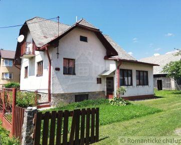 Rodinný dom - Liptovská Kokava na peknom pozemku 517m2 . Vhodný  aj na rekreačné využitie.