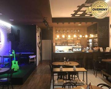 Štýlový novovybudovaný bar/kaviareň v centre BA (80m2)