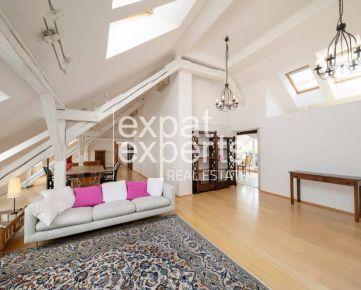 Exkluzívny, priestranný 5i byt, 260m2, čiastočne zariadený, 2x balkón